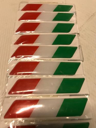 Sticker Adhesivo Resina Bandera Italia Laterales Auto.x1 S01