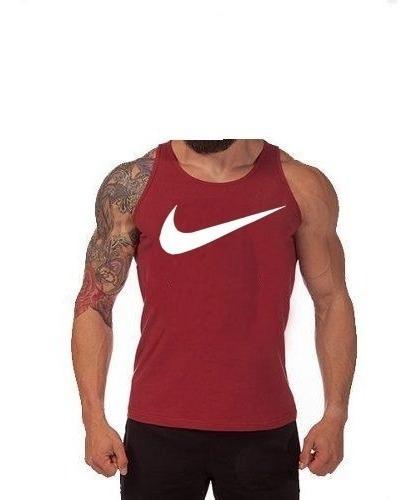 Kit 04 Camiseta Regata Masculina Nike Algodão 30.1 + Frete