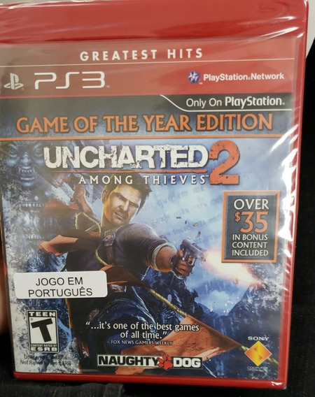 Uncharted 2 Among Thieves Ps3 Midia Fisica Novo