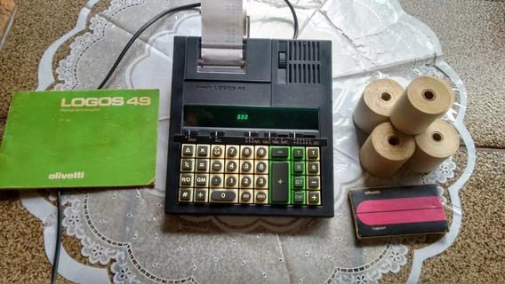 Calculadora Antiga Olivetti Logos Modelo 49 - Ano Fabr. 1984