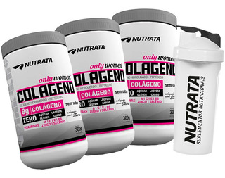 3x Colágeno Only - 300g Cada + Brinde ( Copo ) - Nutrata