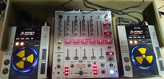 Case Cdj 200s Pioneer + Mixer Behringer Djx 700