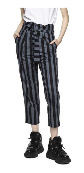 Pantalon Jared Cropped Poplin Tiro Alto Mujer Complot