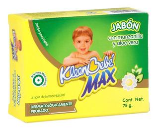 Jabón Para Bebé Kleenbebé Max Manzanilla Y Aloe Vera 75 Gr