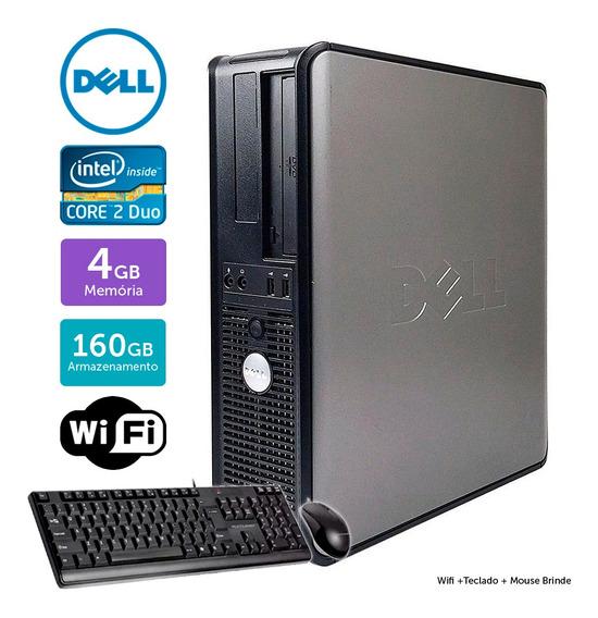 Desktop Usado Dell Optiplex 780int C2duo 4gb 160gb Brinde