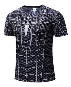Camisa 3d Super Heróis - Homem Aranha - Poliéster