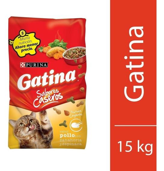 Gatina 15kg Alimento Purinapara Gatos De Todas Las Razas