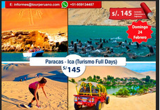 Full Day Paracas-ica Confirmado 24 Febrero Todo Incluido