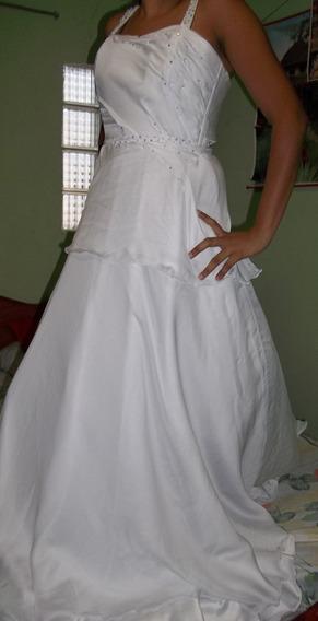Vestido Matrimonio Novia Con Velo Talla M Copa 36 100 Dlrs