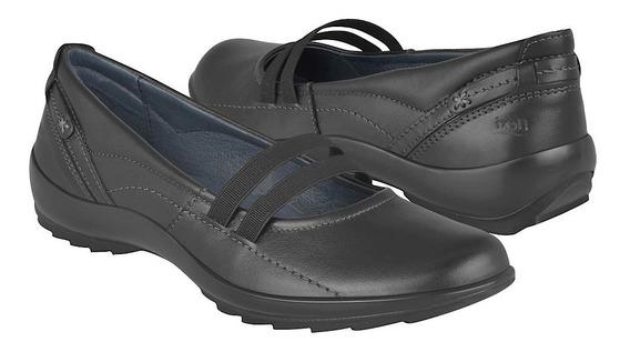 Calzado Zapato Dama Confort Negro Flexi Genesis 58910 Piel