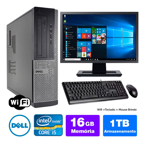Computador Usado Dell Optiplex Int I5 2g 16gb 1tb Mon19w