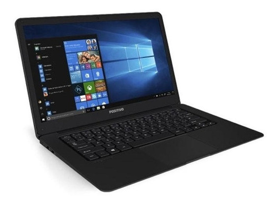 Notebook Positivo Motion Black Q232a 14 Quad Core 2gb Win10