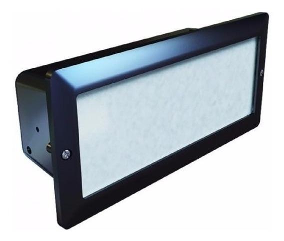 Luminaria Embutir Parede Externa Aluminio Germany 6100 Preto
