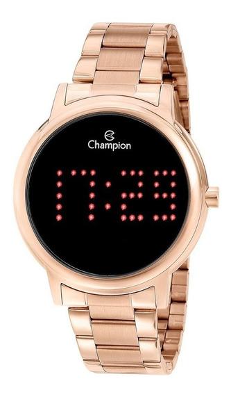 Relógio Led Champion Ch40044p Rosé