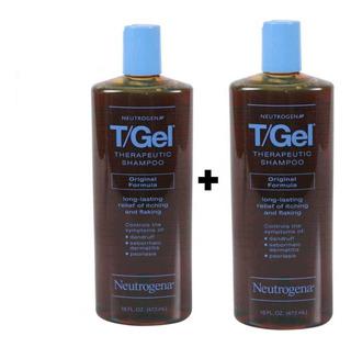 2 Pzs Shampoo Anticaspa T-gel Neutrogena 473ml+ Envío Gratis