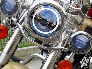 Kit Farol Led Para Harley D 7