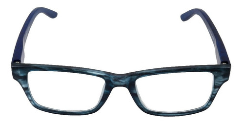 Imagem 1 de 6 de Óculos De Leitura Com Grau Armação Tunnel Azul