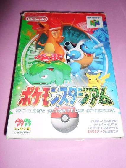 Pokemon Stadium Original C/ Caixa Para Nintendo 64 N64