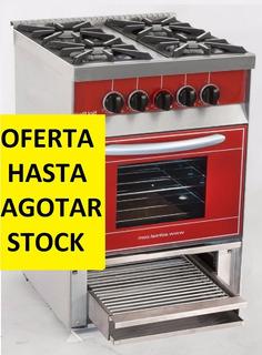 O F E R T A Cocina 4 Hornallas Con Parrilla Sol Real516vp