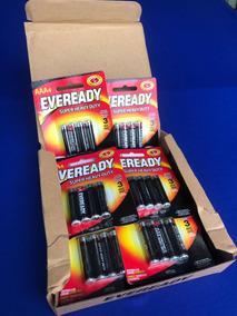 Pilha Aaa-4 Eveready 72 Pilhas Embaladas Para Expositores.