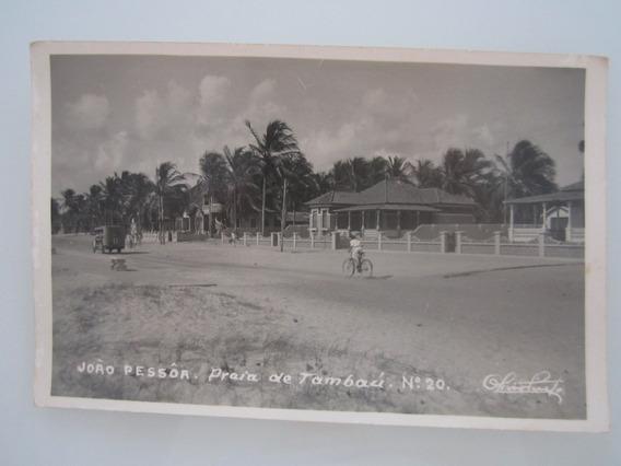 Cartão Postal Antigo João Pessoa Paraíba Praia De Tambaú