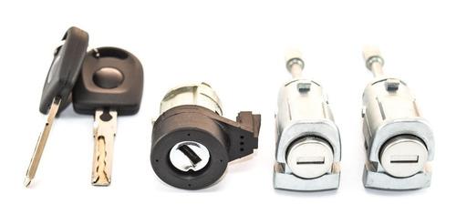 Imagem 1 de 6 de Kit Cilindro Ignição + Portas Mesma Chave Golf 02 A 07