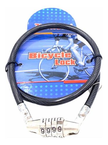 Candado Linga Bicicleta Moto Acero Cubierto Goma 68cm