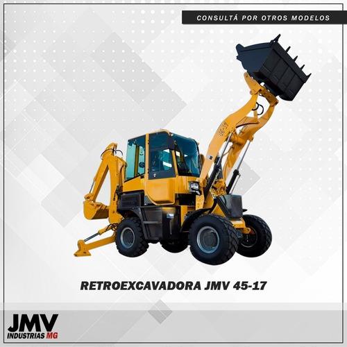 Imagen 1 de 12 de Retropala Jmv 4517 4x4 3er Via Joystick Nueva Acople D Balde
