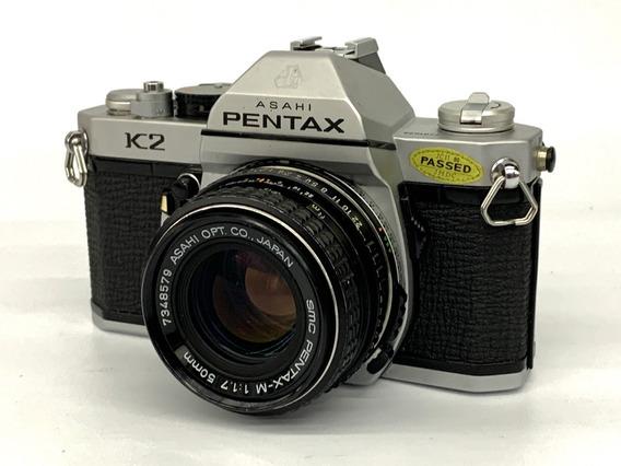 Câmera Pentax K2 C/lente 50mm 1:1:7(analógica).
