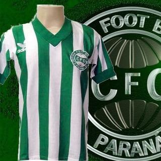 Camisa Retrô Coritiba Listrada Logo 1980.