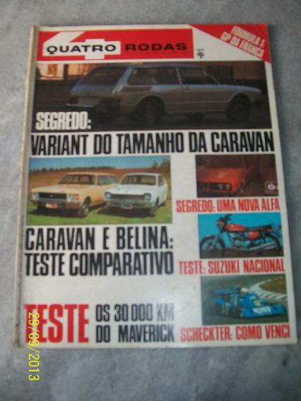 Quatro Rodas Nº 192- 07/76 Caravan, Belina, Maverick, Suzuki