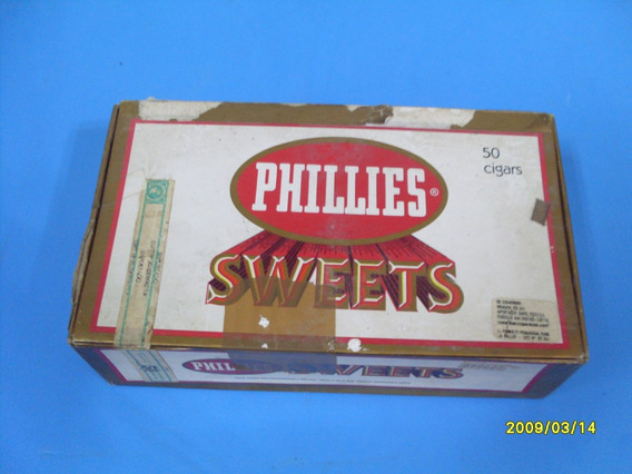 Caja De Cigarros Phillies De Carton Vacia Made In U.s.a.