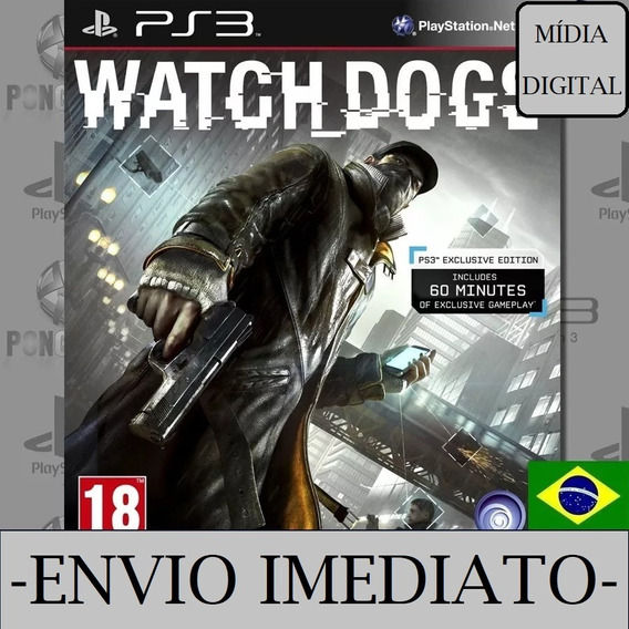 Watch Dogs Ps3 Psn Mídia Digital Dublado Envio Imediato