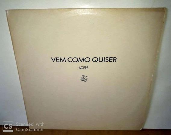 Lp Agepê- Vem Como Quiser-1990( Vinil Disco Mix Sem Riscos)*
