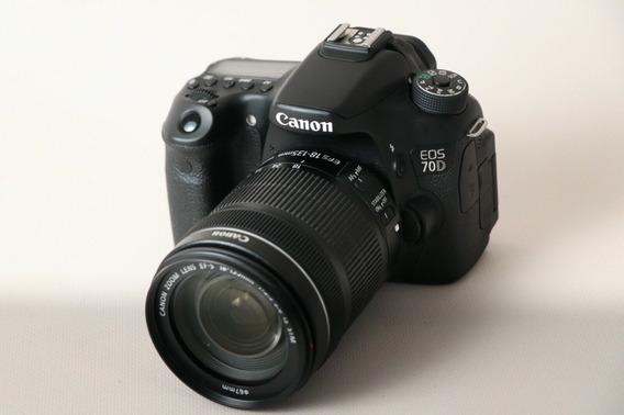 Câmera Canon 70d + Lente 18-135mm