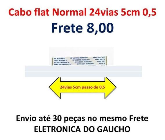 Cabo Flat 24vias 5cm Normal(12mm De Largura)super Promoção