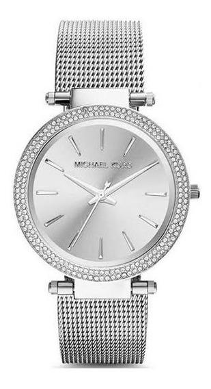 Relógio Michael Kors Mk3367 Darci Silver Mash Bracelet