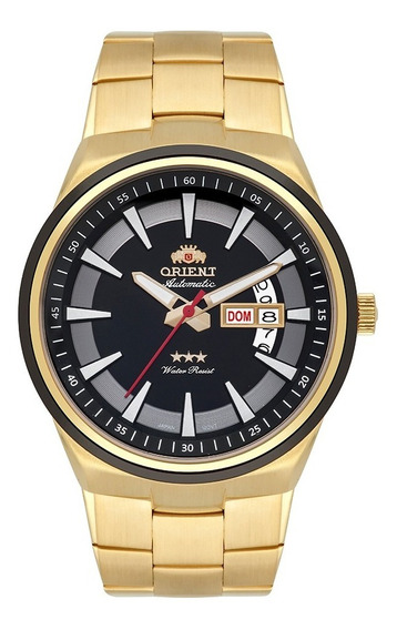 Relógio Orient Automático Masculino Dourado 469gp081