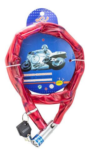 Tranca P/ Moto Cadena Forrada 5mm X 90 Cm Colores - El Regal