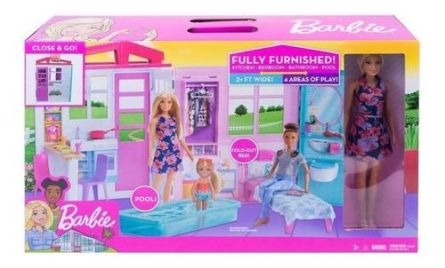 Barbie Casa Glam Mattel Original Incluye Muñeca