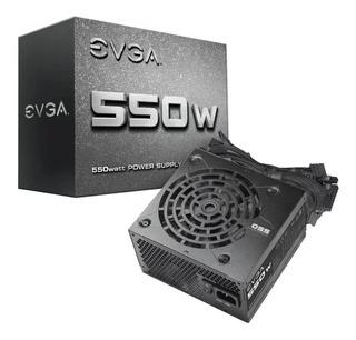 Fuente Pc Gamer Evga 550w Real N1 43a Pci-e 2 Sata 6 Box