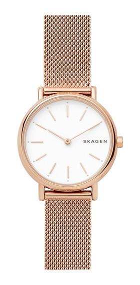 Reloj Dama Skagen Signatur Skw2694 Color Oro Rosado De Acero