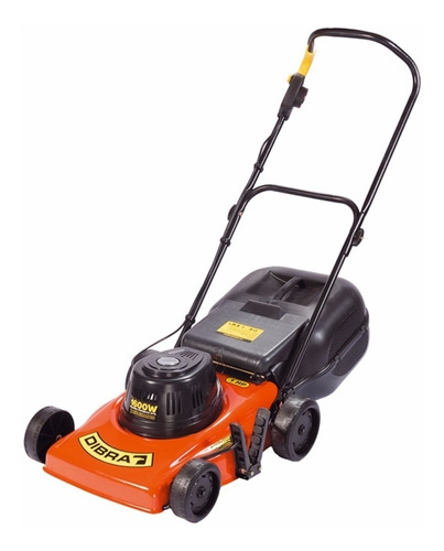 Cortadora de pasto eléctrica Dibra R32GB con bolsa recolectora 1600W naranja y negra 220V