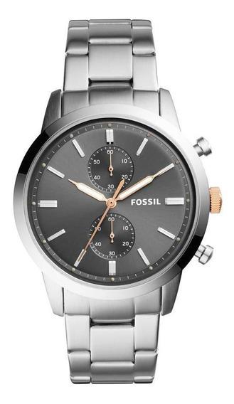 Relógio Fossil Masculino Casual Townsman Prata - Fs5407/1cn
