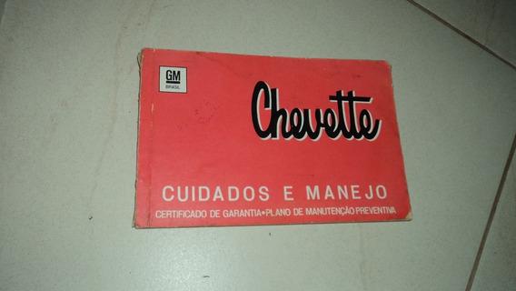 Manual Do Proprietário Chevette 1974 Ótimo