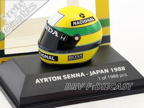 1/8 Minichamps Capacete Bell Ayrton Senna Campeão F1 1988
