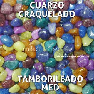 Cuarzo Trc23 Cuarzo Craquelado Pintado Multicolor Mediano