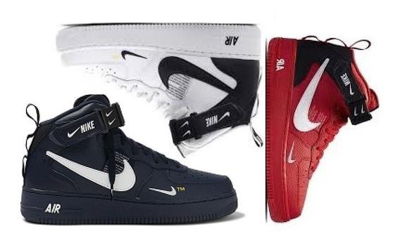 Tênis Botinha Nike Air Force Tm One Fit Promoção Kit 3 Pares