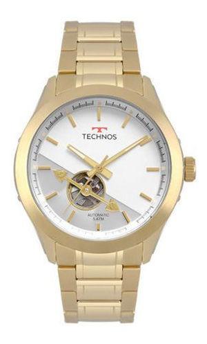 Relógio Masculino Dourado Technos Automático Aço Dourado