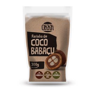 Farinha De Coco Babaçu Okka 300g Caixa Com 12 Unidades
